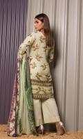 • 3.0 Meters Printed Cotton Shirt Piece • 2.5 Meters Trouser  • 2.5 Meters Lawn Dupatta