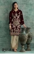 Embroidered Velvet Unstitched Kurti