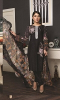 03 pcs unstitched embroidered and Chikankari Lawn with embroidered Chiffon dupatta