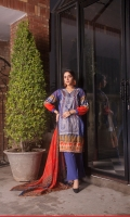 Shirt: Finest Digitally Printed Embroidered Luxury Lawn  Dupatta: Fancy Digitally Printed Organza Trouser: Dyed Premium Cotton