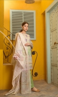Shirt: Finest Digitally Printed Embroidered Luxury Lawn  Dupatta: Digitally Printed Line Organza  Trouser: Dyed Premium Cotton