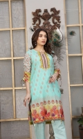 Digital Printed Lawn Shirt with Dyed Trouser