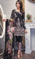 Shirt: Lawn  (Machine & Hand  Embroidered) Dupatta: Chiffon (Digital Print)  2.5 Meter Trouser:  Cotton 2.25 Meter