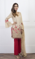 Shirt: Lawn Zari (Machine and hand Embroidered) Dupatta : Chiffon 5 Meter Trouser: Cotton 2.5 Meter
