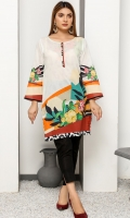 Printed Lawn Shirt with sleeves