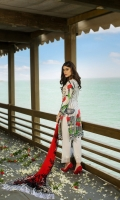 3 Meters Pure Lawn 2.5 Meters Trouser Fabric 2.5 Meters Chiffon Dupatta Heavy Embroidered Neck 2 Heavy Embroidered Trouser Patches