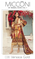 3 Meters Pure Lawn 2.5 Meters Trouser Fabric 2.75 Meters Chiffon Dupatta Heavy Embroidered Neck 2 Heavy Embroidered Trouser Patches  2 meters Daman Patti