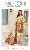 3 Meters Pure Lawn 2.5 Meters Trouser Fabric 2.75 Meters Chiffon Dupatta Heavy Embroidered Neck 2 Heavy Embroidered Trouser Patches