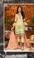 Digital Printed and Embroidered Chikankari Lawn Shirt Digital Printed Lawn Dupatta Dyed Cambric Trouser