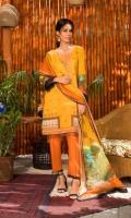 Digital Printed and Embroidered Chikankari Lawn Shirt Digital Printed Lawn Dupatta Dyed and Embroidered Trouser
