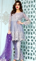 Body front  : 25 inches  Body Back : 25 inches Pannels Front & Back :  2.50 Meters Net Dupatta : 2.50 Meters Trouser : 2.50 Meters Sleeves : 0.65 Meters