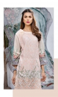 LAWN PRINT EMBROIDERED FRONT LAWN PRINTED BACK LAWN PRINTED SLEEVES LAWN EMBROIDERED BORDER FOR FRONT LAWN ADDITIONAL PRINTED PATTI CRINKLE CHIFFON PRINTED DUPATTA PLAIN TROUSER