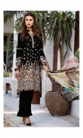 LAWN EMBROIDERED FRONT LAWN EMBROIDERED BACK LAWN PLAIN SLEEVES LAWN EMBROIDERED BORDER FOR FRONT AND BACK LAWN PRINTED BORDER FOR SLEEVES LAWN EMBROIDERED NECKLINE PATTI ORGANZA EMBROIDERED BORDER FOR TROUSER CRINKLE CHIFFON PRINTED DUPATTA PLAIN TROUSER