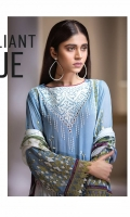 3 Piece Embroidered Unstitched Chiffon Suit