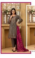 Banarsi Khaddar Broshia Shirt with Dupatta & Plain Trouser