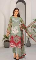 Embroidered Lawn Shirt Chiffon Dupata Plain Trouser