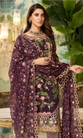 Shirt: - Luxury Heavy Embroidered Swiss Voil Dupatta: - Heavy Embroidered Fancy Chiffon Trouser: - Printed and Jamawar