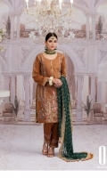 Luxury Fully Embroidered Swiss Voile Shirt Embroidered Chiffon Dupatta Embroidered Trouser