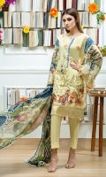03 pcs unstitched luxury embroidered Jacquard Lawn suits Embroidered Jacquard Lawn Shirt Digital Printed Pure Chiffon Dupatta Dyed + Embroidered Trouser