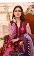 Shirt: - Heavy Embroidered Chiffon Dupatta: - Embroidered Chiffon Lining: - Dyed Pure Silk Trouser: - Dyed Pure Silk