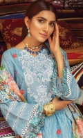 Shirt: Printed Lawn Dupatta: Printed Lawn Trouser: Dyed Cotton  EMBROIDERY: Full Front Embroidered Shirt