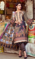 Shirt: Printed Lawn Dupatta: Printed Lawn Trouser: Dyed Cotton  EMBROIDERY: Embroidered Gala on Shirt