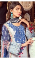Shirt: Printed Lawn Dupatta: Printed Lawn Trouser: Dyed Cotton  EMBROIDERY: Embroidered Gala on Shirt Embroidered Border on Trouser