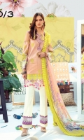 Digital Printed Front, Back & Sleeves Embroidered Laser Cut Front Embroidered Border for Trouser Digitally Printed Pure Chiffon Dupatta Dyed Trouser