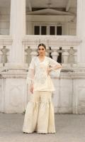 Pure embroidered chiffon angrakha style shirt with adda work and embellishment  Charmeuse silk block print dupatta