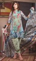 Shirt: - Embroidered Cotton Dupatta: - Printed Lawn Trouser: - Dyed