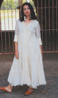 SOLID WHITE LONG FLARED ANARKALI WITH PAJAMA