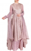 SOLID PURPLE HEAVY FLARED ANARKALI SET