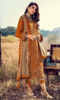 Front: Embroidered khaddar panni centre panel and side panels Back: Dyed kahddar Sleeves: Embroidered khaddar Pants: Dyed khaddar Dupatta:Embroiderd woolen shawl Embroideries: 1) Front panni border 2) Sleeves panni border