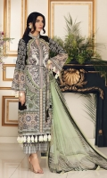 * DIGITAL PRINT FRONT                                                               (1.15m)  * EMBROIDERY GALA ON TISSUE LEFT AND RIGHT                     (02)  * FRONT, SLEEVES  & GALA LACE                                                 (90in)  * DIGITAL PRINT SLEEVES                                                             (.70m)  * DIGITAL PRINT BACK                                                                 (1.15m)  * TROUSER DIGITAL PRINT                                                           (2.5m)  * DIGITAL PRINT DUPATTA                                                           (2.5m)  * DIGITAL PRINT BORDER                                                             (90in)