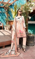 Digital Printed Rib Lawn Shirt 3 Mtr (100% Cotton) Digital Printed Voil Dupatta 2.5 Mtr (100% Cotton) Dyed Pima Cotton Trouser