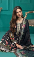 • Digital Embroidered Lawn Shirt, • Printed Chiffon Dupattas • And Trousers.