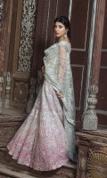 3pc embroidered organza suit