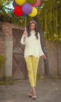 White kurta with embroidery. length: 30 Shirt only
