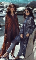 -Embroidered Cambric Shirt - Printed Chiffon Dupatta -Dyed Cambric Trouser