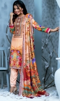 DUPATTA: DIGITAL PRINTED PURE LINEN. SHIRT: DIGITAL PRINT EMBROIDERED WITH MIRROR WORK PURE COTELLE LINEN. TROUSER: DYED PURE LINEN.
