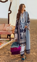 Paste Printed Shirt Front On Lawn 1.15 meters Paste Printed Shirt Back On Lawn 1.15 meters Paste Printed Sleeves On Lawn 0.65 meter Embroidered Neck On Lawn Dyed Woven Zari Check Dupatta 2.5 meters Printed Cotton Pants 2.5 meters