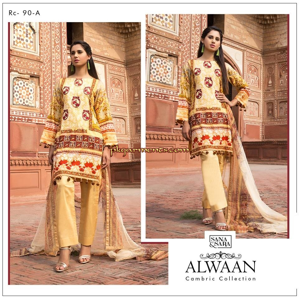 3d33e7ef93 Sana & Sara Alwaan Cambric Collection 2018 | Pakistani Clothes ...