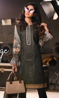 Shirt : Printed Cambric Shirt with Handwork & Embroidered Front / Tissue Bunches. Dupatta : Printed Broshia Jacquard Dupatta Trouser : Printer Cambric