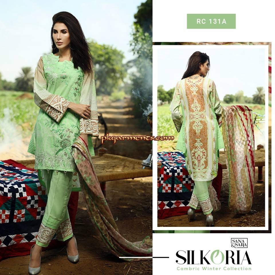 2649770cb0 Sana & Sara Silkoria Cambric Collection 2018 | Pakistani Clothes ...