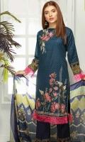 Digital Printed Embroidered Lawn Shirt Printed Chiffon Dupatta Dyed Trouser