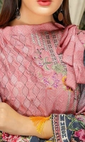 Embroidered Viscose Unstitched 3 Piece Suit
