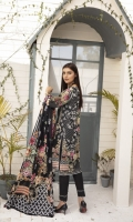 Printed Lawn Shirt with Embroidered Neck Printed Lawn Sleeves Printed Lawn Dupatta (2.5mtr) Printed Lawn Extra Patch Dyed Trouser (2.5mtr)