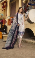 Digital Printed Lawn Shirt with Embroidered Front Digital Printed Sleeves Digital printed Chiffon Dupatta (2.5mtr) Trouser Lace Dyed Trouser (2.5mtr)