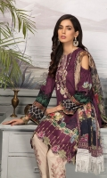 Digital Printed Lawn Shirt With Embroidered Neck Digital Printed Sleeves Digital Printed Chiffon Dupatta Dyed Trouser Embroidered Trouser Lace