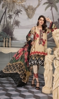 Digital Printed Lawn Shirt With Embroidered Nack Digital Printed Sleeves Embroidered Sleeve Lace Digital Printed Chiffon Dupatta Dyed Trouser Embroidered Trouse Lac